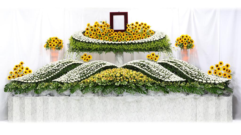 生花祭壇① ひまわり
